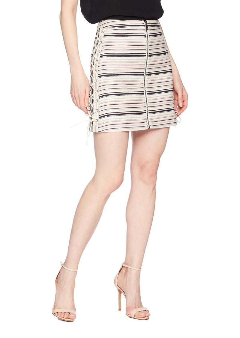 df7ef25867 BCBG Max Azria BCBGMAXAZRIA Women's Brittany Lace-Up Mini Skirt S ...