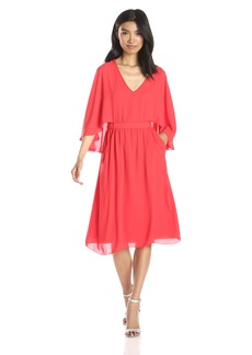 BCBGMAXAZRIA Women's Brittni Kimono Sleeve Dress with Fly Away Back