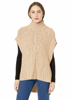 BCBG Max Azria BCBGMAXAZRIA Women's Cable Knit Turtleneck Sweater  M/L