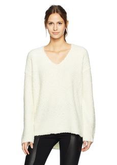 BCBG Max Azria BCBGMAXAZRIA Women's Caden Knit Textured Sweater Top  S