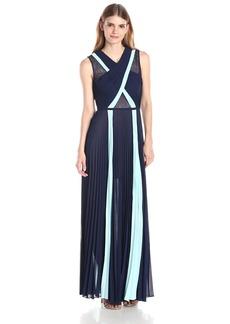 BCBG Max Azria BCBGMAXAZRIA Women's Caia Sleeveless Colorblocked Gown