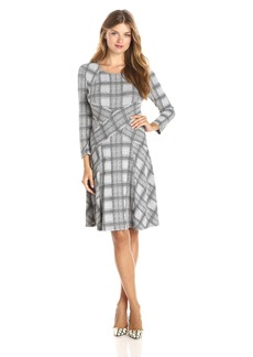 BCBGMAXAZRIA Women's Carlie - Blocked A-Line Dress