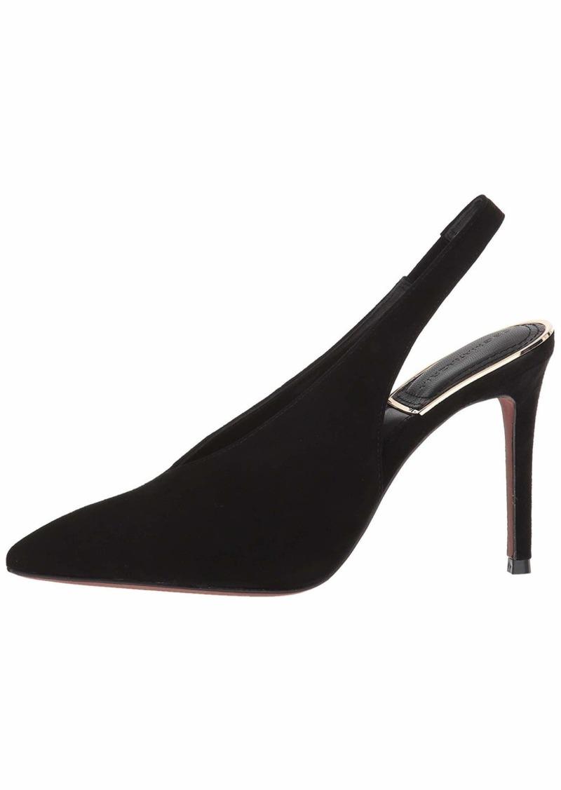 BCBG Max Azria BCBGMAXAZRIA Women's Cassie Sling Back Shoe black suede  M US