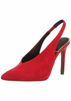 BCBG Max Azria BCBGMAXAZRIA Women's Cassie Sling Back Shoe burnt red suede  M US