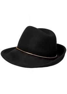 BCBG Max Azria BCBGMAXAZRIA Women's Chain Assymetrical Fedora Hat