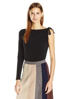 BCBGMAXAZRIA Women's Chyanne 3/4 Sleeve Top One Shoulder