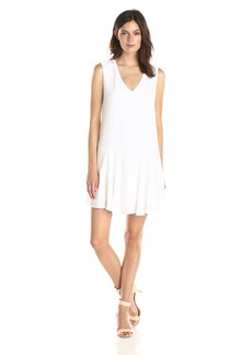 BCBGMAXAZRIA Women's Clea A-Line Double Flounce Tank Dress