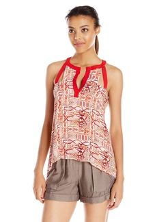 BCBG Max Azria BCBGMAXAZRIA Women's Clementine Cut Out Tan Top