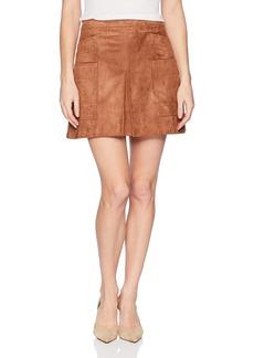 BCBG Max Azria BCBGMAXAZRIA Women's Corinne Faux-Suede Mini Skirt  L