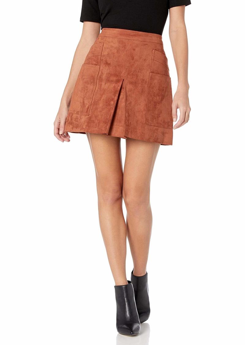 BCBGMAXAZRIA Womens Jania Cotton Zip Front Mini Skirt
