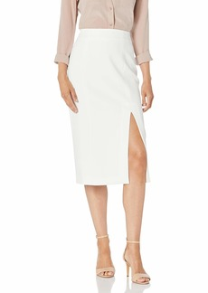 BCBG Max Azria BCBGMAXAZRIA Women's Crepe Side-Slit Skirt Off-White MD (US )