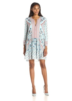 BCBG Max Azria BCBGMAXAZRIA Women's Dahlia Printed Relaxed Peasant Dress