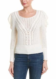 BCBG Max Azria BCBGMAXAZRIA Women's Draped Shoulder Plaited Sweater  M