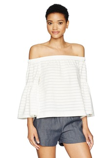 BCBG Max Azria BCBGMAXAZRIA Women's Eavan Off The Shoulder Top with Bell Sleeves  L