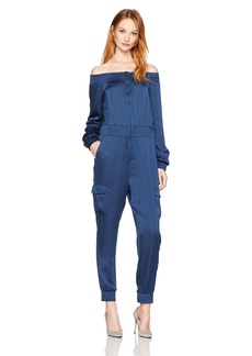 BCBG Max Azria BCBGMAXAZRIA Women's Edyth Woven Off The Shoulder Jumpsuit  M
