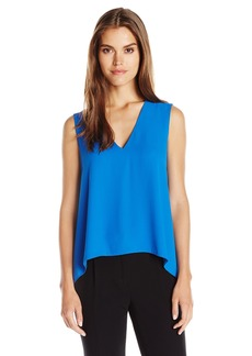 BCBGMAXAZRIA Women's Eliza Sleevless Drape Back Top