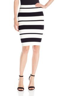 BCBG Max Azria BCBGMAXAZRIA Women's Elizabeth Striped Bodycon Skirt