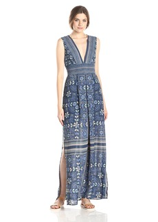 BCBGMAXAZRIA Women's Elyza Printed Sleeveless Long Dress