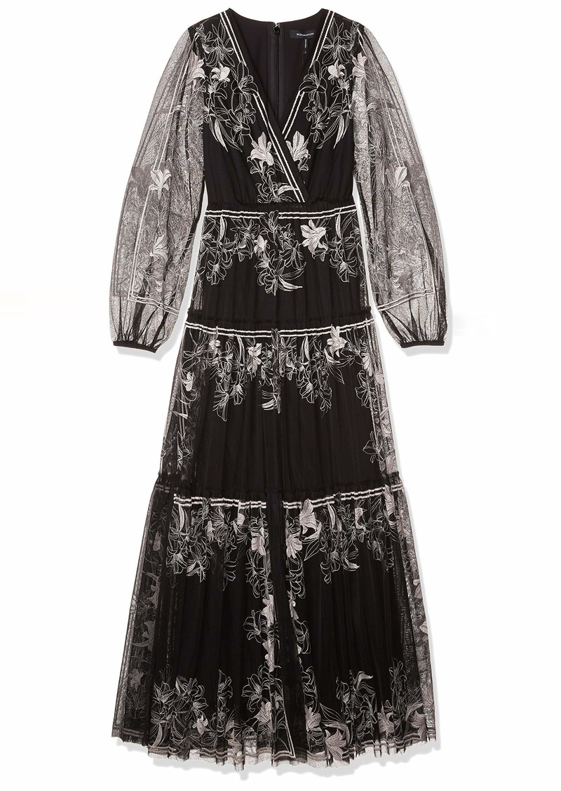 BCBG Max Azria BCBGMAXAZRIA Women's Embroidered Tulle Dress