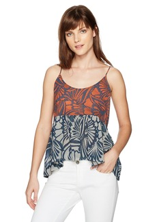 BCBGMAXAZRIA Women's Evee-Print Blocked Floral Woven Sportswear Tank  XS