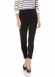 BCBG Max Azria BCBGMAXAZRIA Women's Faux Leather-Trimmed Ponte Legging