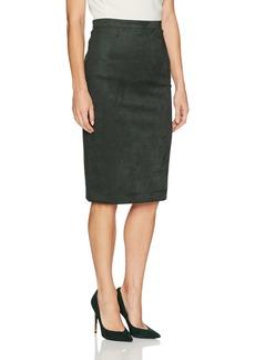 BCBG Max Azria BCBGMAXAZRIA Women's Faux Suede Knit Pencil Skirt  L