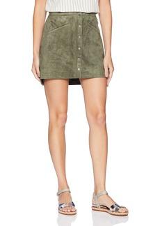 BCBG Max Azria BCBGMAXAZRIA Women's Faux-Suede Miniskirt  M