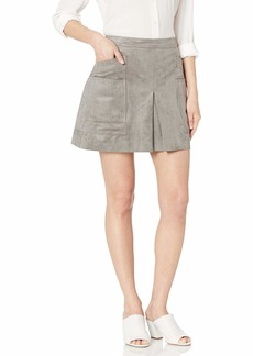 b132cb609e BCBG Max Azria BCBGMAXAZRIA Women's Faux Suede Utility Mini Skirt XS