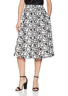 BCBG Max Azria BCBGMAXAZRIA Women's Floral Embroidered A-Line Skirt  M