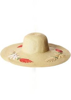 BCBG Max Azria BCBGMAXAZRIA Women's Floral Floppy Hat