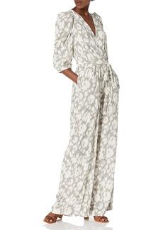 BCBG Max Azria BCBGMAXAZRIA Women's Floral Printed 3/4 Sleeve Jumpsuit