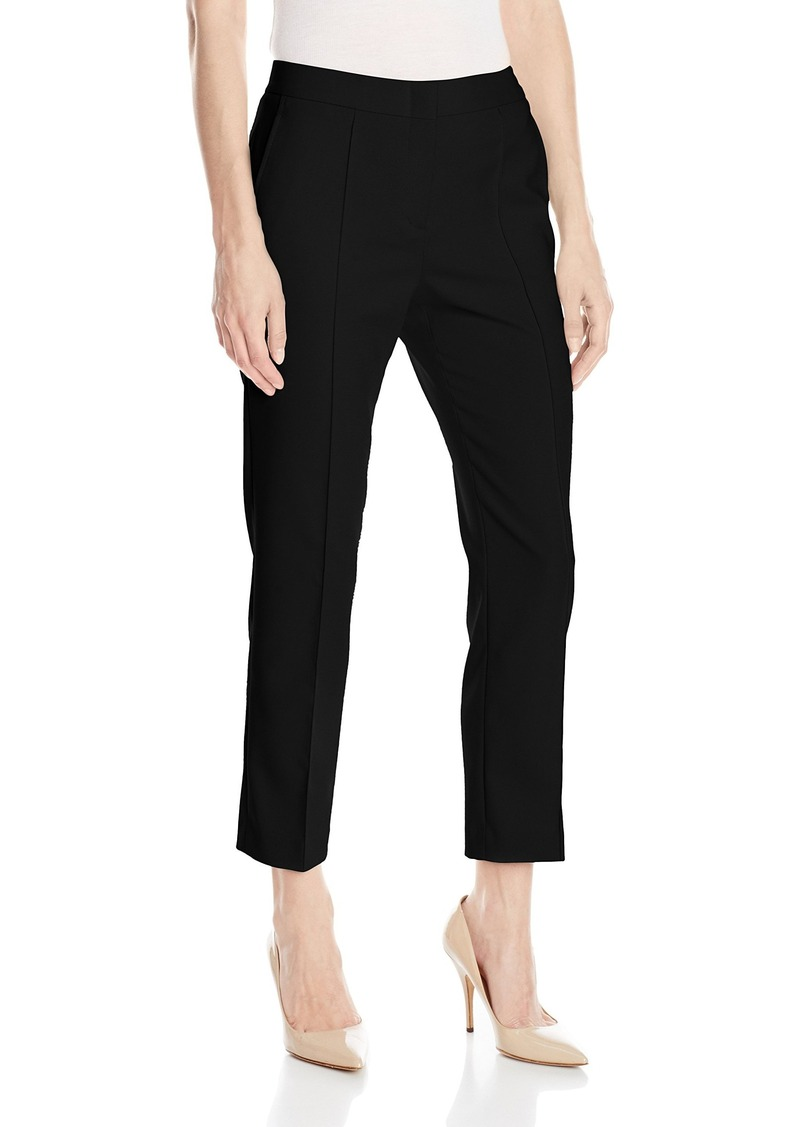Ankle pants are one variation of a cropped pant. Again, some retailers will include jeans under the heading of ankle pants. They're sleek, tailored, tapered on the hem, and showcase the ankle. Lengths are typically two to three inches above the ankle bone. Two inches is quite the sweet spot.