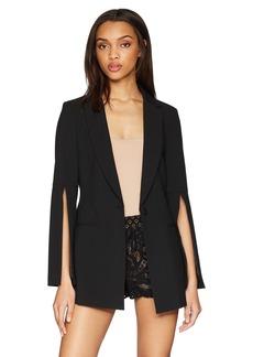 BCBG Max Azria BCBGMAXAZRIA Women's Gia Slit-Sleeve Blazer  S