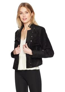 BCBG Max Azria BCBGMAXAZRIA Women's Hansen Faux-Suede Jacket  S