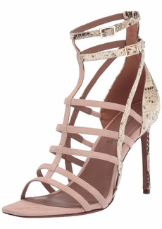 BCBG Max Azria BCBGMAXAZRIA Women's Ilsa Sandal natural/tea rose  M US