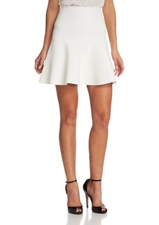 BCBG Max Azria Bcbgmaxazria Women's Ingrid Knit Fit and Flare Skirt gardenia L