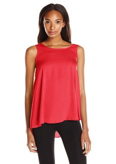 BCBG Max Azria BCBGMAXAZRIA Women's Jadine Sleeveless Drape Back Top  XX-Small