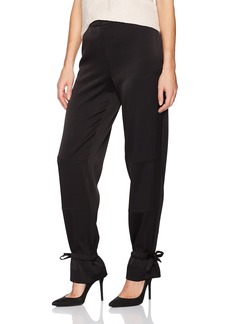 BCBG Max Azria BCBGMAXAZRIA Women's James Woven Cargo Pants With Tie Detials  L