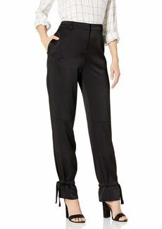 BCBG Max Azria BCBGMAXAZRIA Women's James Woven Cargo Pants with Tie Detials  S