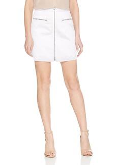 BCBG Max Azria BCBGMAXAZRIA Women's Jania Cotton Zip Front Mini Skirt  M