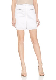 BCBG Max Azria BCBGMAXAZRIA Women's Jania Cotton Zip Front Mini Skirt  M