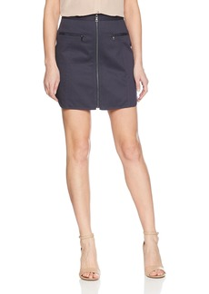 BCBG Max Azria BCBGMAXAZRIA Women's Jania Cotton Zip Front Mini Skirt  XS