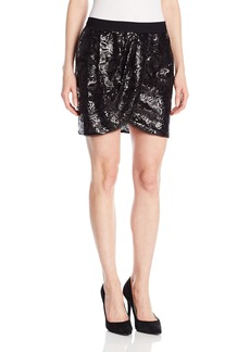 BCBGMAXAZRIA Women's Joanne Sequin Wrap Skirt