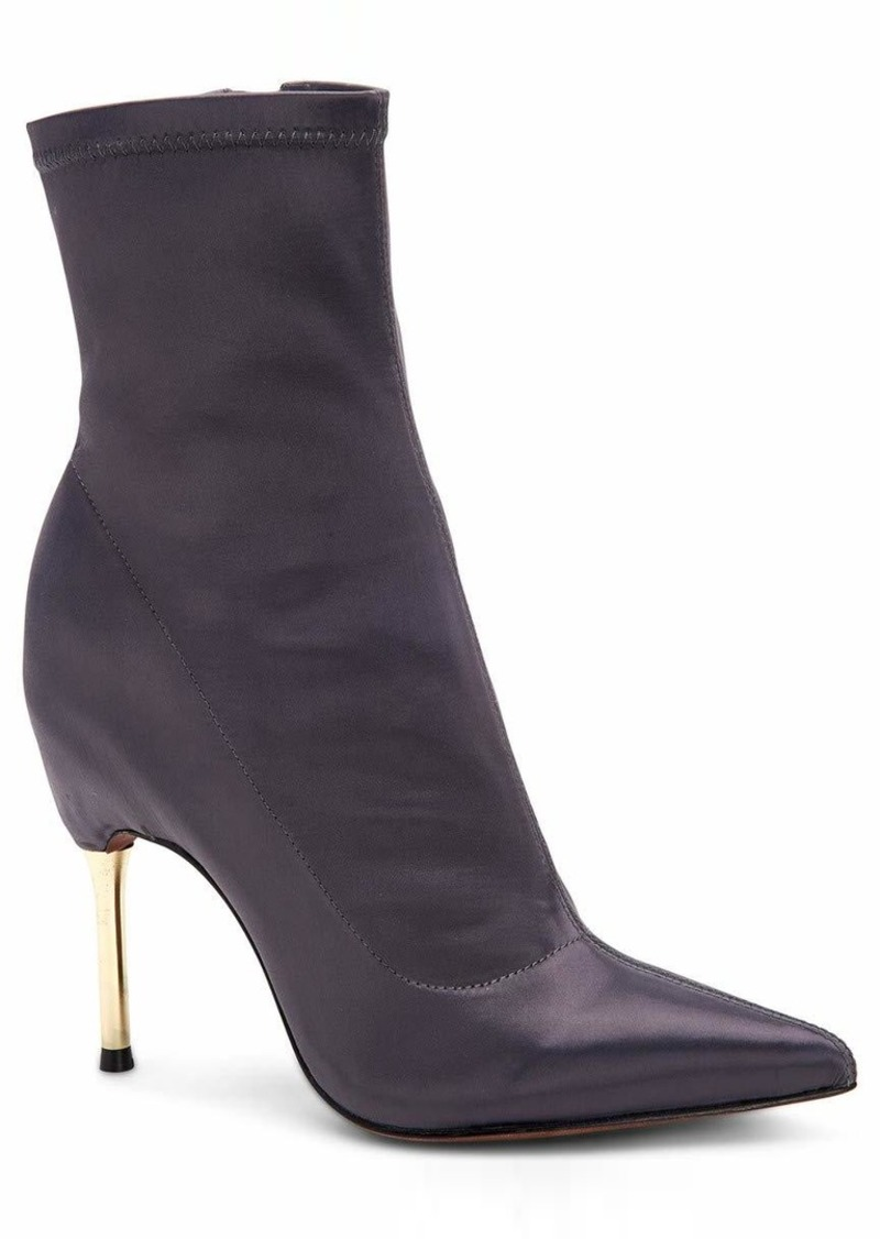 BCBG Max Azria BCBGMAXAZRIA Women's Jolie Bootie Boot asphalt stretch satin  M US
