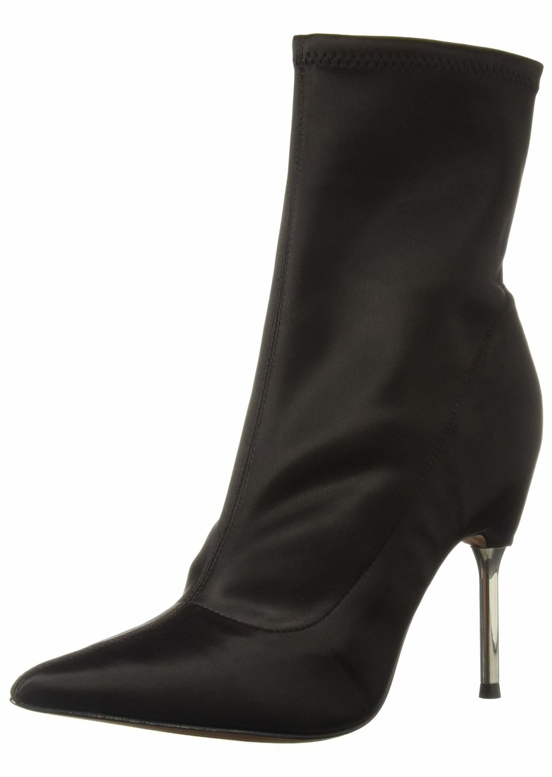 BCBG Max Azria BCBGMAXAZRIA Women's Jolie Bootie Boot black stretch satin  M US