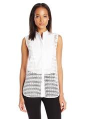 BCBG Max Azria BCBGMAXAZRIA Women's Keleigh Sleeveless Button-Front Shirt
