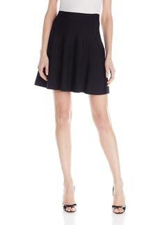 BCBGMAXAZRIA Women's Kelli Ottoman A-Line Skirt