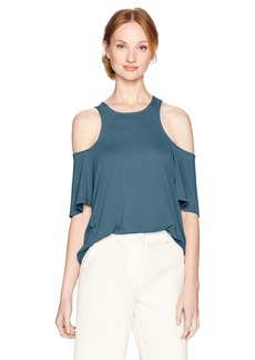 BCBGMAXAZRIA Women's Kelsey Knit Cold Shoulder Top  S