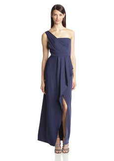 BCBG Max Azria BCBGMAXAZRIA Women's Kristine One Shoulder Evening Gown