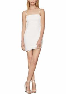 BCBG Max Azria BCBGMAXAZRIA Women's Lace Applique Mini Dress Off-White